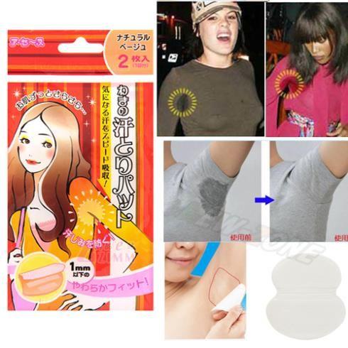 antiperspirant underarm dress sticker Underarm sweat pads deodorant patch Men Women tape Stickers 1bags=2pcs