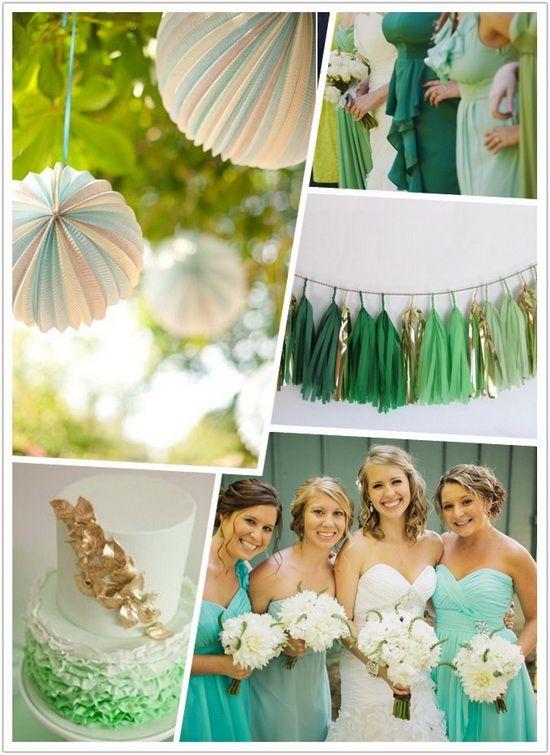 green-ombre-wedding-ideas