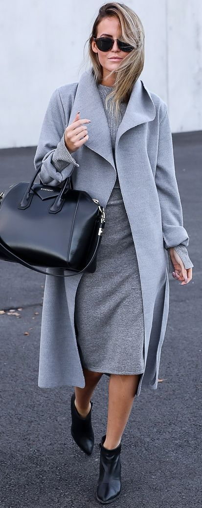Shades Of Gray Fall Street Style Inspo by By Kiki