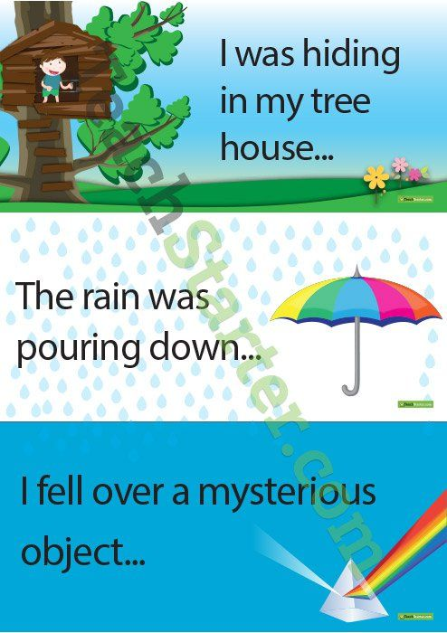 Narrative Sentence Starter Cards Teaching Resource