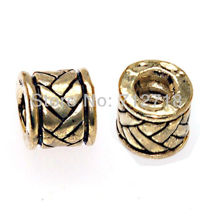Шарик, сплав Европейском стиле, Бусы, Большие Шарики Отверстия подходит популярный бренд браслеты, браслет, тролль браслет, античная золотой цвет купить на AliExpress