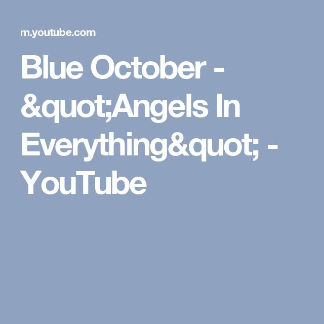"""Blue October - """"Angels In Everything"""" - YouTube"""