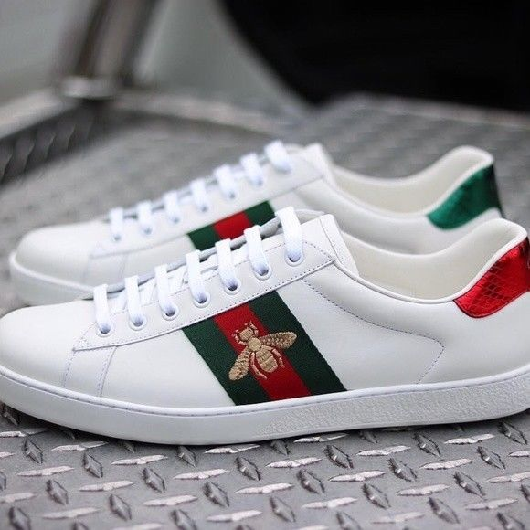 gucci bee trainers mens