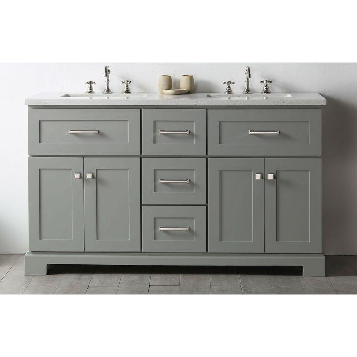 Legion Furniture Cool Wood 60-inch Vanity With 1-piece Quartz Sink