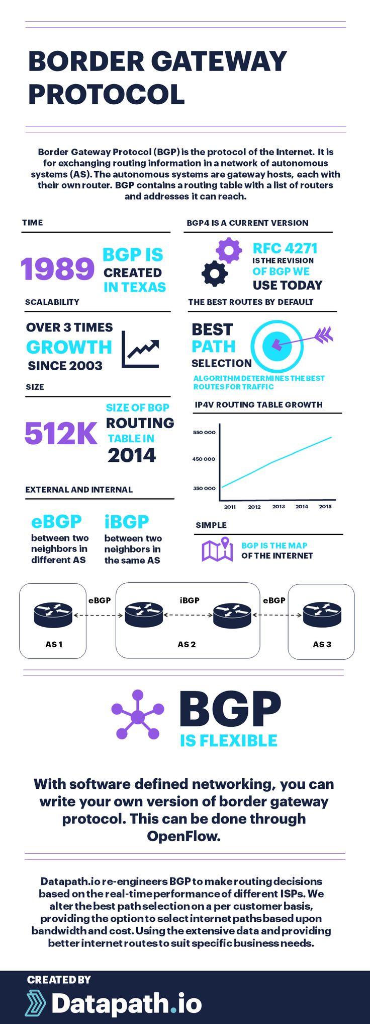 Border Gateway Protocol Infographic (BGP)