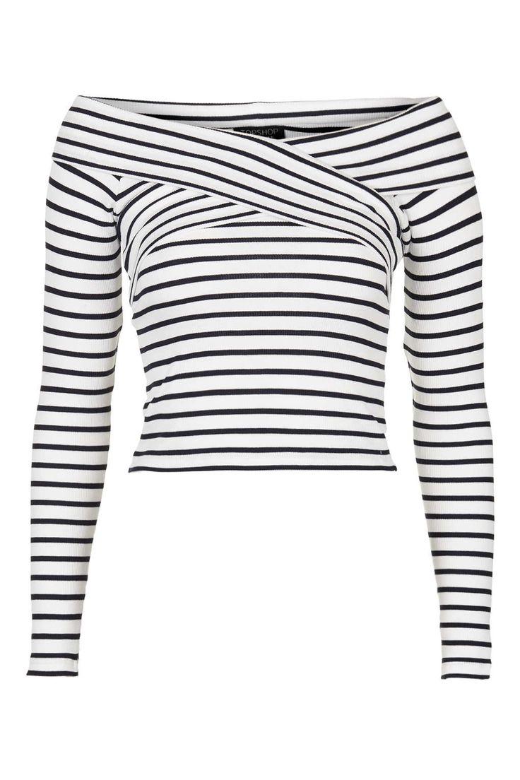 Striped Bardot Top Topshop A/W 15 - super cute, love a nautical