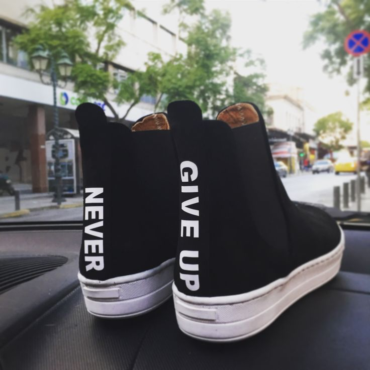 Leather booties! Never give up.... feel the love by Rena Xenou