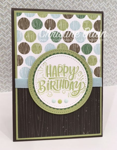 I just love the colours, and patterns, in the new Coffee Break Designer Series Paper collection.  I have made a very simple masculine birthd...