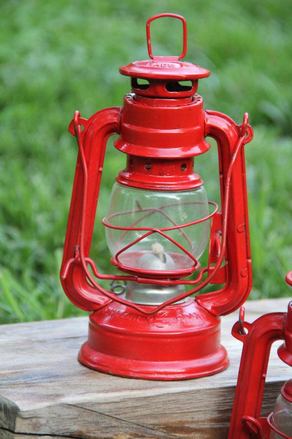 vintage red lanterns - shabby chic