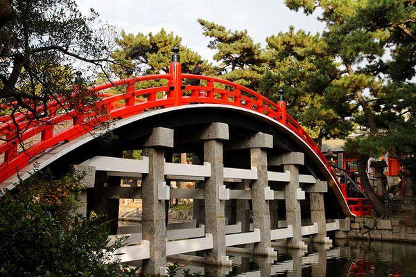 Sumiyoshi-taisha shrine. built 211