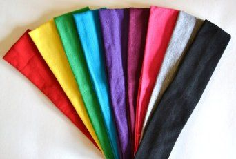 "(9) 2"" Cotton Stretch Headband Set"