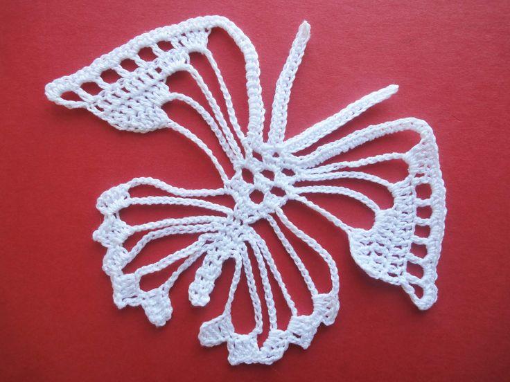 Irish crochet Fantasy Butterfly Crochet