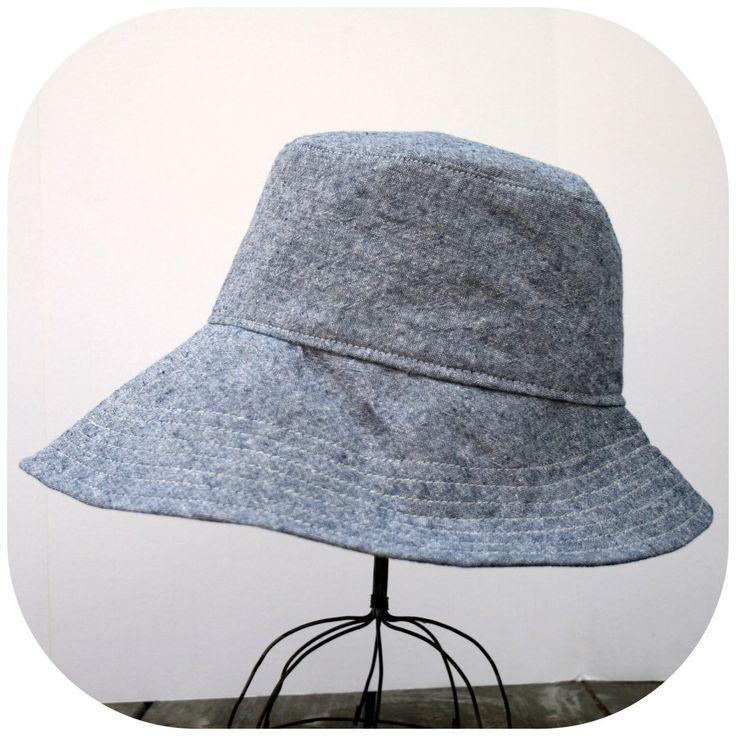 Women's Sun Hat, Wide Brim Floppy Summer Hat, Denim Chambray by bluecorduroy on Etsy https://www.etsy.com/listing/193792224/womens-sun-hat-wide-brim-floppy-summer