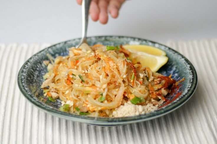 We have this Pad Thai frequently, its super quick to throw together and really delicious. You can easily adapt to be vegetarian, or just make with whatever is available in the fridge.