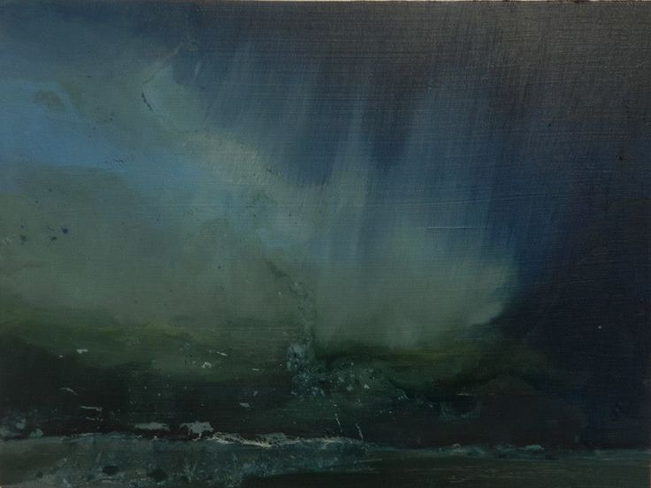 Sea Storm , oil on board, 195 x 145 mm, 2014, (private collection)