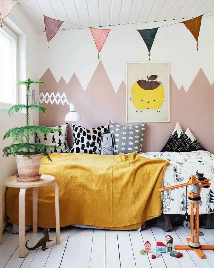 34 acogedoras ideas de diseño de dormitorio para niños escandinavos