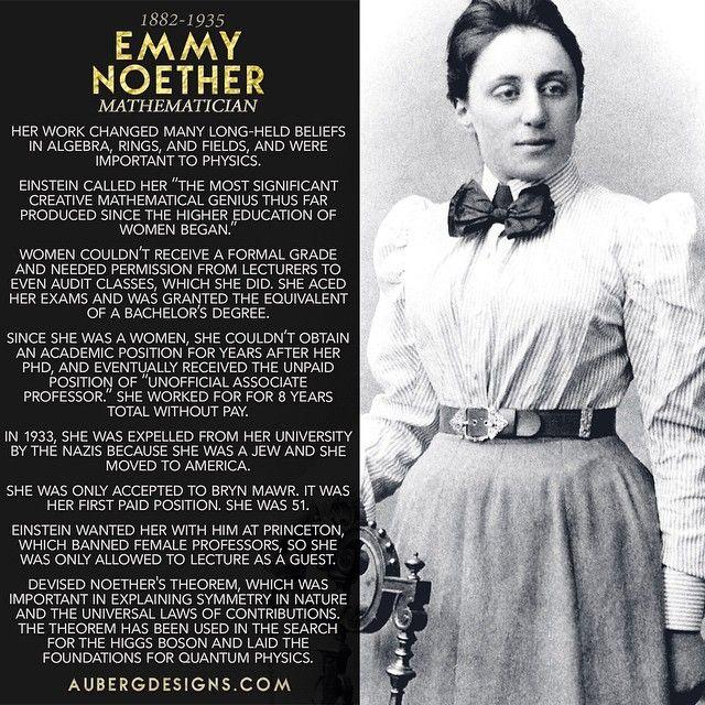 Happy 133rd birthday to Emmy Noether! #WomensHistoryMonth #WomeninSTEM http://ift.tt/1ImfhQw