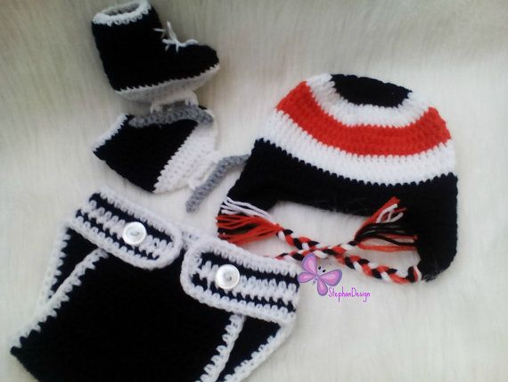 hockey baby outfit hockey baby costume Baby Boy by StephanDesign