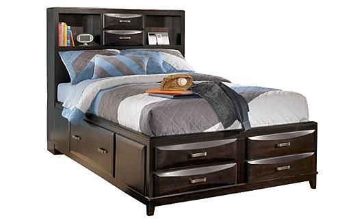 Kira Youth Storage Bed: with out the head board, This is closer to what I want for the girls, tho maybe in a lighter color.
