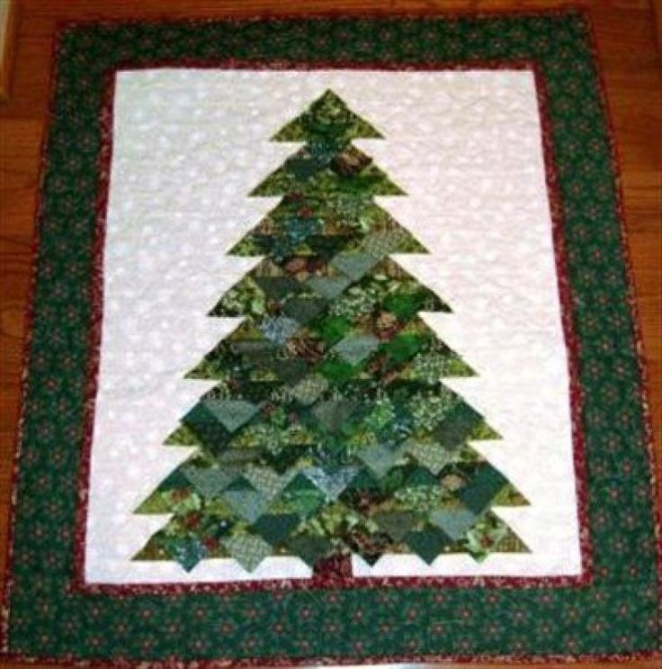 Prairie Point Tree Quilting Wall Hangings Christmas