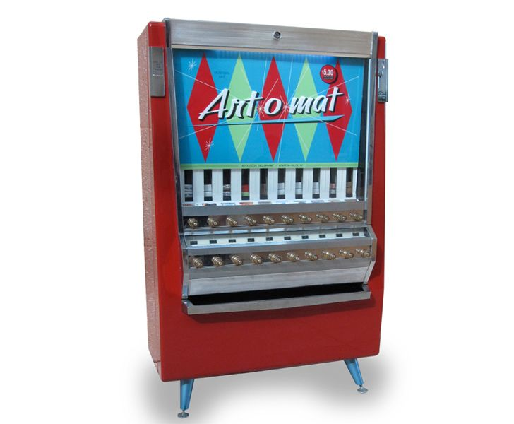 Vintage cigarette machines turned to mini art galleries. From Artists in Cellophane. #inspirationDispeners Art, Art Gallery, Cigarettes Machine, Vending Machines, Art O' Mats, Dispenser Art, Machine Recycle, Cigarettes Vending, Vintage Cigarettes