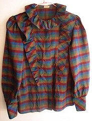 ruffled blouse - I think I've got a fourth grade class picture in something very similar to this.