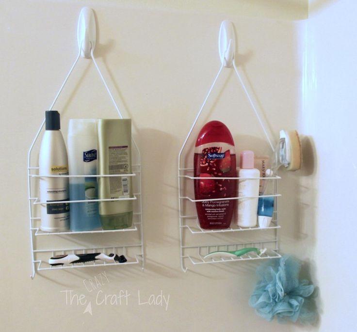 Hang Shower Cads On Hooks For Instant Bathroom Storage