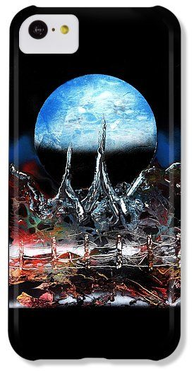 My Home IPhone 5c Case Printed with Fine Art spray painting image My Home by Nandor Molnar (When you visit the Shop, change the orientation, background color and image size as you wish)