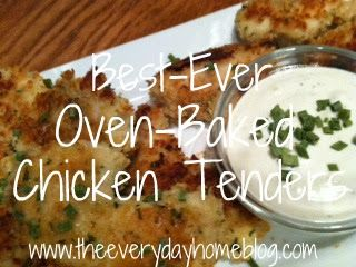 Best Ever Oven Baked Chicken Tenders