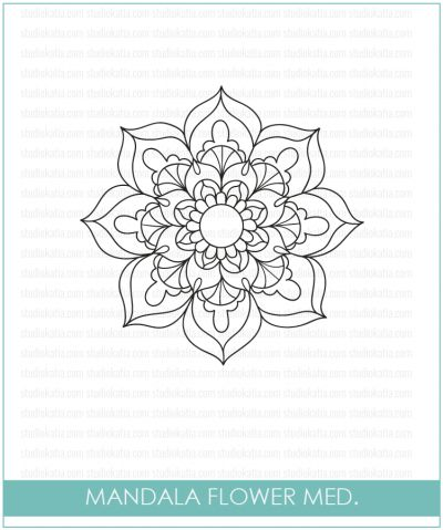 Studio Katia - Mandala Flower (med.) stamp - Click Image to Close