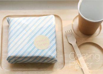 ( 100 шт./лот ) полоску сэндвич оберточная бумага DIY упаковка для торт хлеб подарок жиронепроницаемая масло бумаги 29 x 29 см