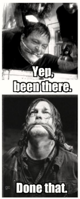 Norman Reedus Daryl Dixon The Walking Dead Season 5 TWD<-----multiple roles where Reedus has been gagged and bound