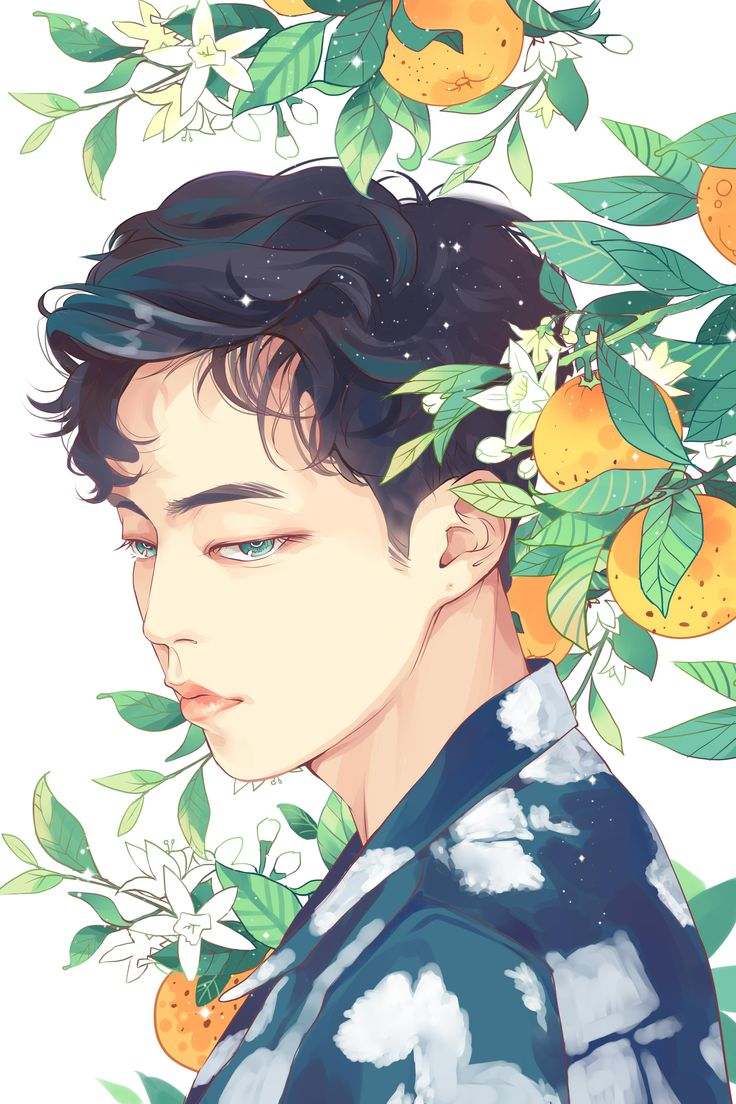 "Fan art of Kim Min-seok (김민석) also known mononymously as Xiumin (시우민) of EXO (엑소) from their ""Ko Ko Bop"" comeback. || ©Hhana on FanBook."