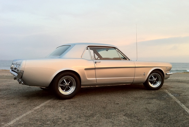 """This is my 1965 Ford Mustang coupe. I took it apart and rebuilt it. I call her """"Shenanigans."""" I love this car!"""