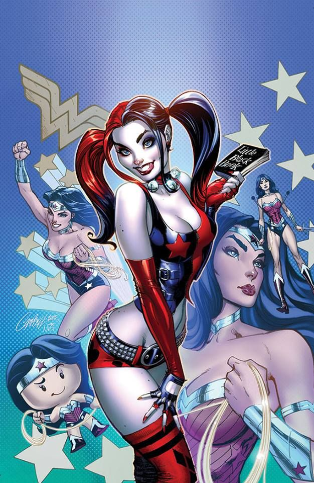 Harley Quinn & Wonder Woman (Harley's Little Black Book #1) by J Scott Campbell