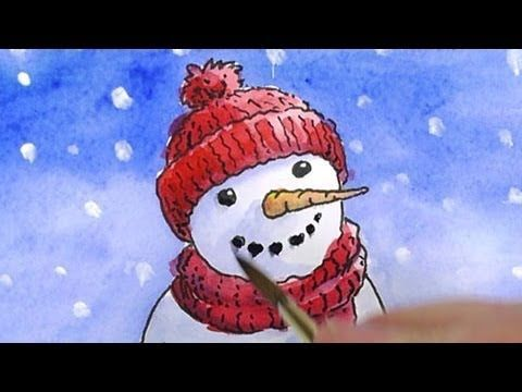 How to draw a snowman. Tutorial by illustrator Shoo Rayner