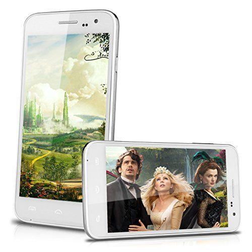 "3G Smartphone Blanc - 5,0"" Quad Core DOOGEE VOYAGER2 DG310 grande IPS HD écran MTK6582 Android 4.4 KitKat portable 1Go RAM+8Go ROM Double SIM Double Veille téléphone portable 2.0MP Caméra Wifi GPS OTA OTG Bluetooth pour orange SFR Bouygues Free ISYS,Lebara Virgin edpnet Dommel Mobistar etc Doogee® http://www.amazon.fr/dp/B00NLA3O72/ref=cm_sw_r_pi_dp_ltLowb0PXEF6B"