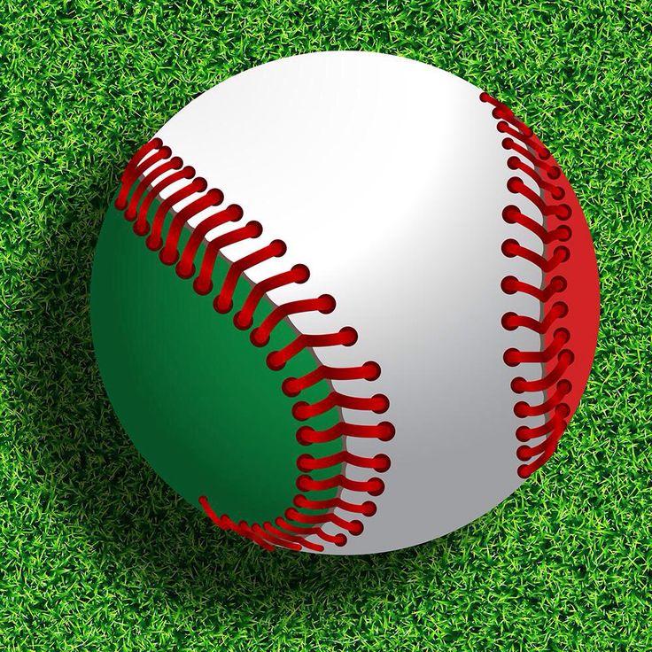 #Pelota de #beisbol con los colores de #México #Baseball with the colors of #Mexico