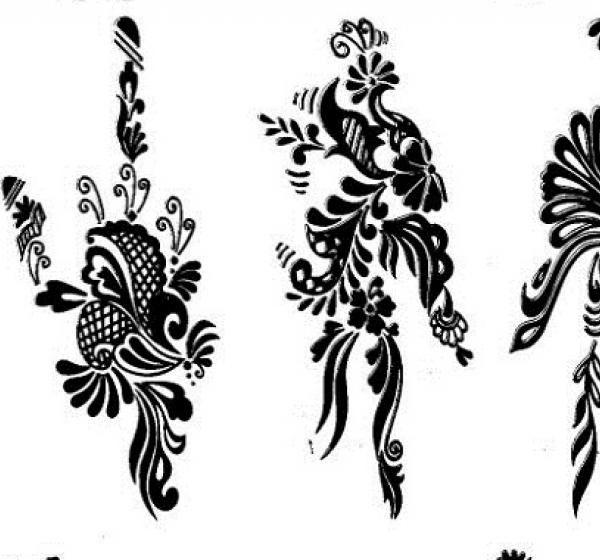 Tatuajes de henna 1a parte en plantillas y dibujos im genes para decorar - Dibujos tribales para tatuar ...