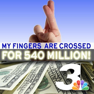 3/29/12 - Anyone else buying a #MegaMillions ticket?  Channel 3 is your official lottery station and will have the winning number LIVE tomorrow night at 11pm