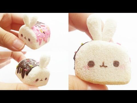 Molang marshmallow squishy tutorial ❣ (using cosmetic sponges) - YouTube