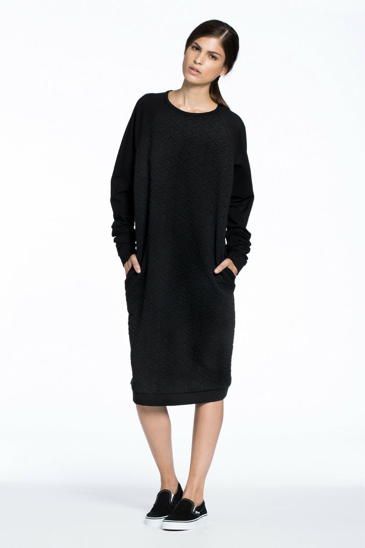 Great Northern Quilted Sweater Dress Black $286.00 AUD
