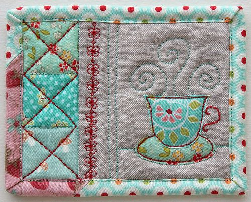 Tiny Teacup Coaster | Blogged | PatchworkPottery | Flickr
