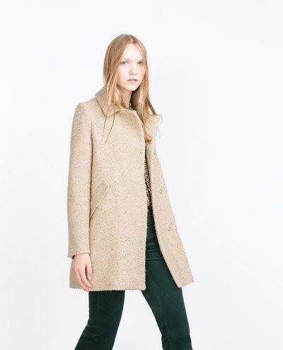 Manteau en drap, Zara