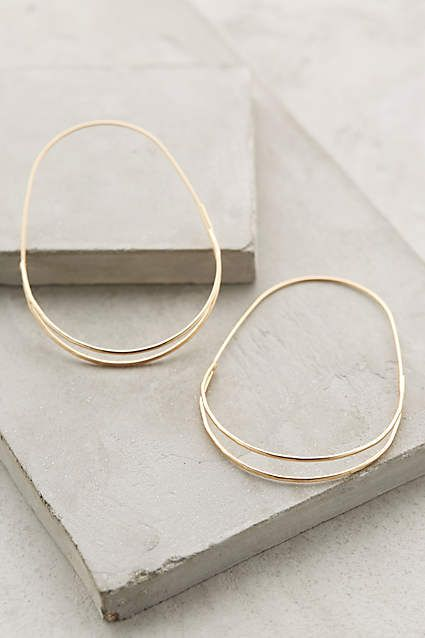 Wedge Hoops - anthropologie.com except in silver