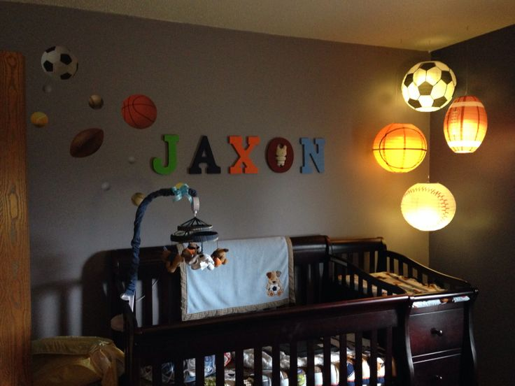 Sports Themed Room Decor: 72 Best Images About Sports Theme Nursery On Pinterest