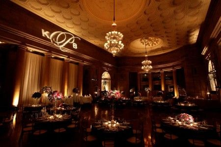 wedding decorations pictures receptions stunning setup with a gobo monogram at this uplighting 9141