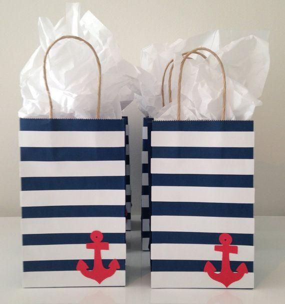 Nautical Favor Bag by MadebyKrizia on Etsy