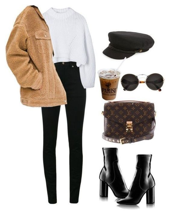 Unique outfit with black pants and black boots