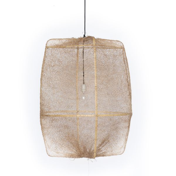 Ay Illuminate Z2 Ona Light with Sisal Net Tea Dyed $820.00 (https://norsu.com.au/collections/boho-luxe-living-room/products/ay-illuminate-z2-ona-light-with-sisal-net-tea-dyed)